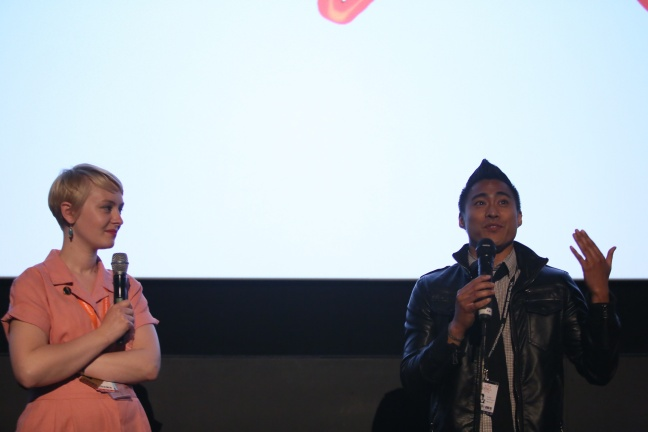 PJ Raval at Q&A for Before You Know it. Photography by Lloyd Smith, courtesy of EIFF.
