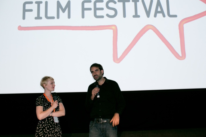Alex Pitstra at Q&A for Die Welt. Photography by Lloyd Smith, courtesy of EIFF.