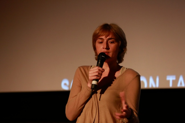 Rusudan Chkonia at Q&A for Keep Smiling. Photography by Pako Mera courtesy of EIFF.
