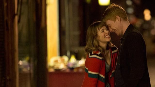 Rachel McAdams and Domhall Gleeson in About Time