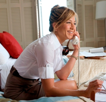Jen on phone
